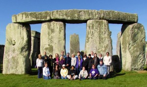group picture at Stonehenge